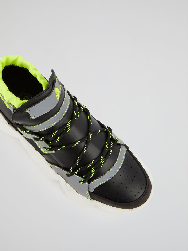 Black Runner Monster 0.2 High Top Sneakers