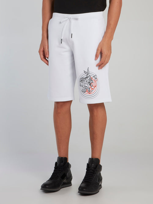 Looney Tunes White Contrast Shorts