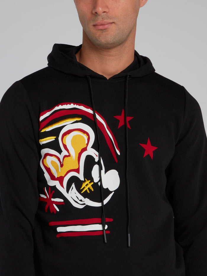 Mickey Mouse Black Embroidered Sweatshirt