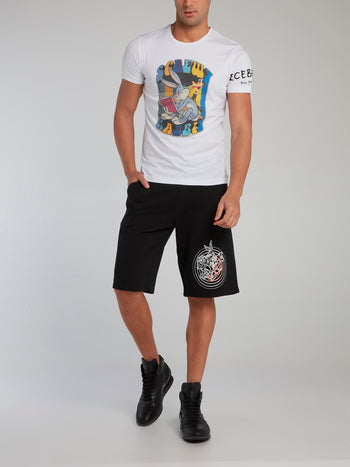 Looney Tunes White Graphic Print T-Shirt