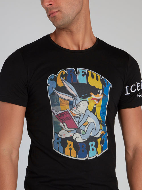 Looney Tunes Black Graphic Print T-Shirt