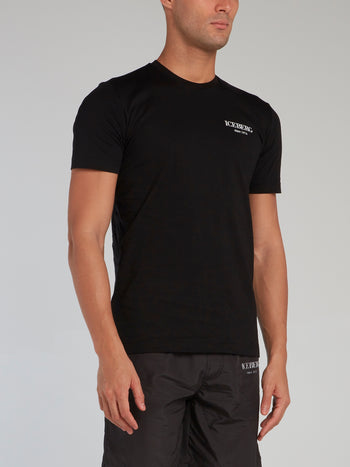 Black Logo Collection Rear Print T-Shirt