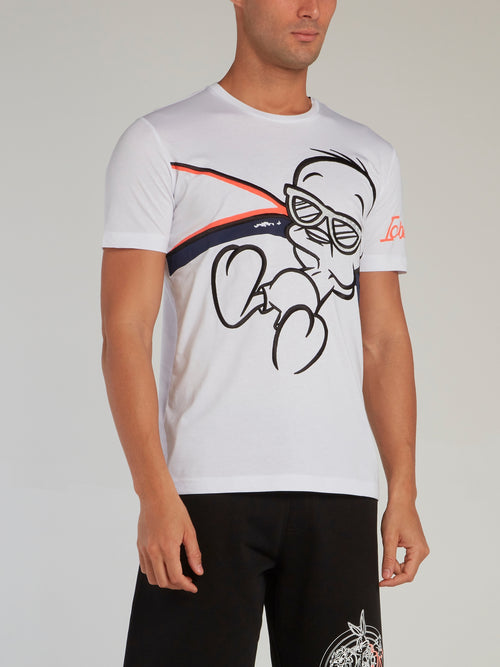 Tweety White Embroidered T-Shirt