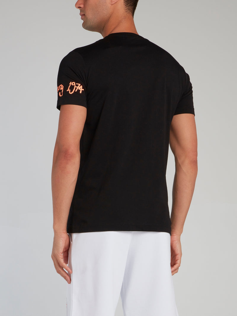Tweety Black Embroidered T-Shirt