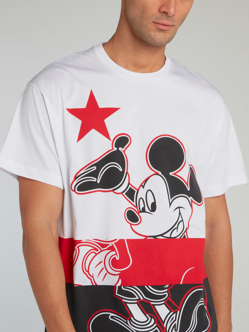 Mickey Mouse White Rear Logo T-Shirt