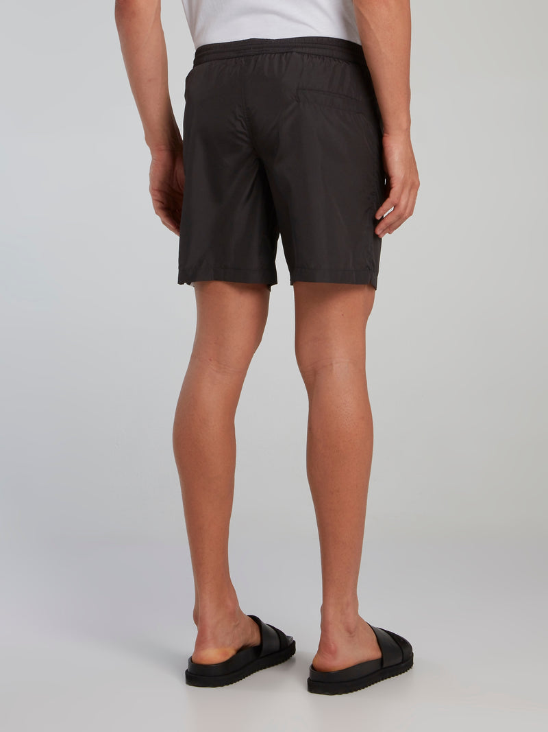 Black Logo Panel Board Shorts