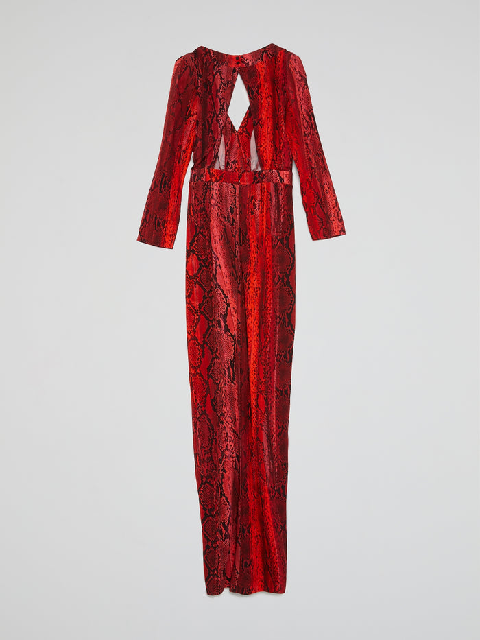 Red Reptilian Maxi Dress