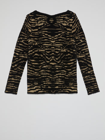 Tiger Effect Crewneck Sweater