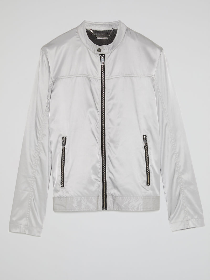 White Zip Up Jacket