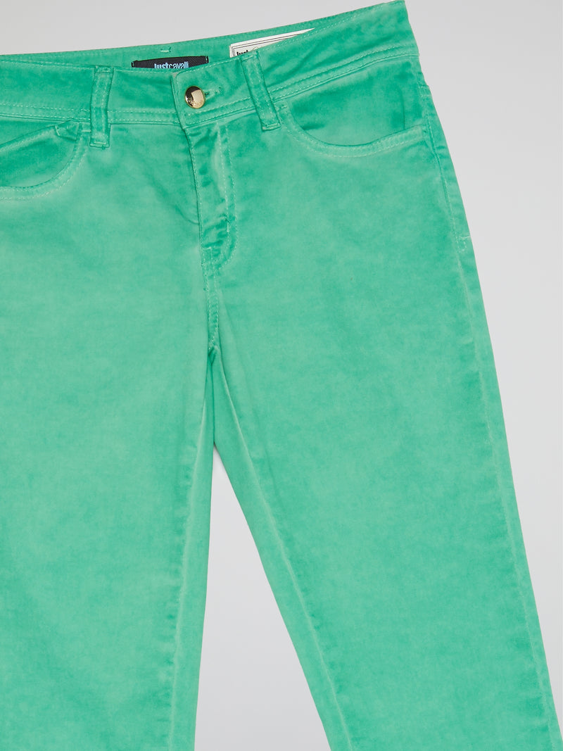 Green Slim Fit Jeans