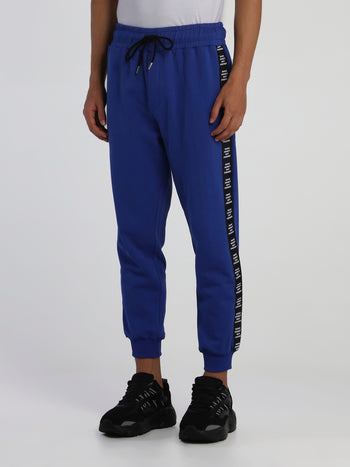 Navy Logo Tape Track Trousers