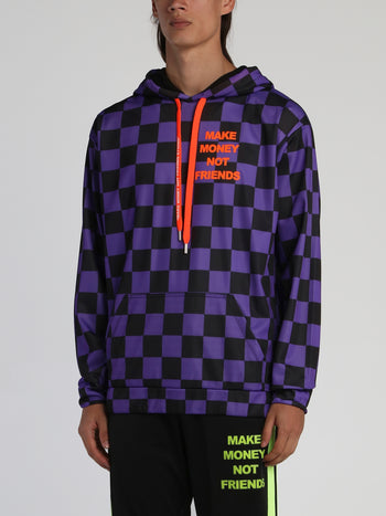Purple Check Logo Sweatshirt