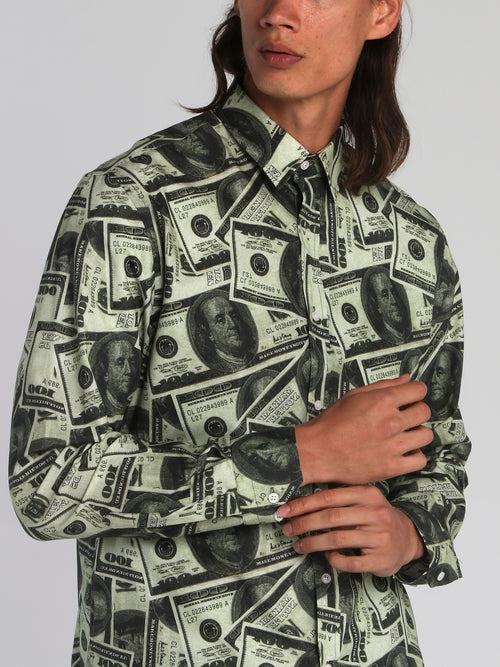 All Over Dollar Print Shirt