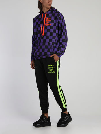 Black Contrast Band Track Pants