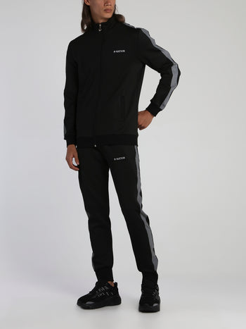 Black Reflective Tape Track Suit