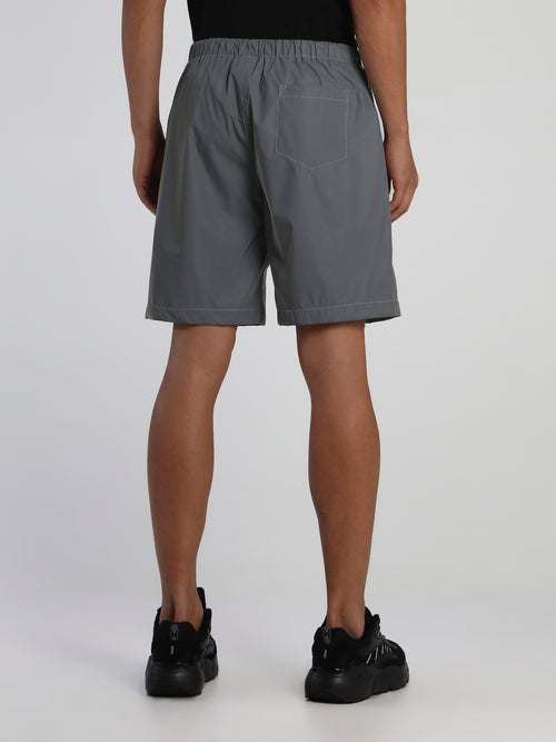 Silver Reflective 3M Active Shorts