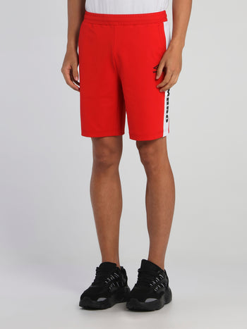 Red Logo Tape Waistband Shorts