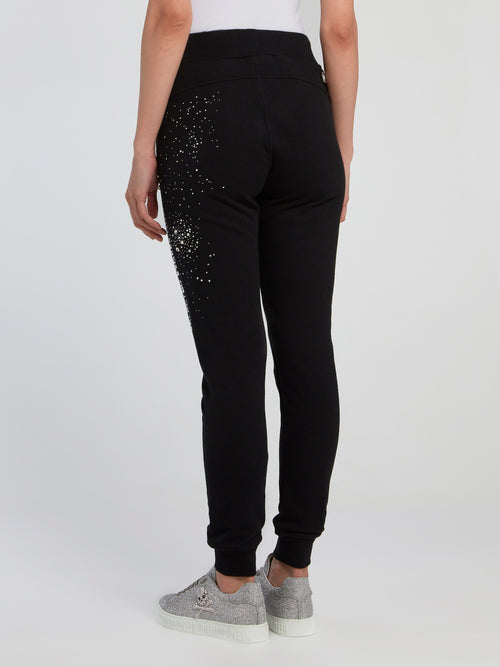 Crystal Plein Black Running Trousers