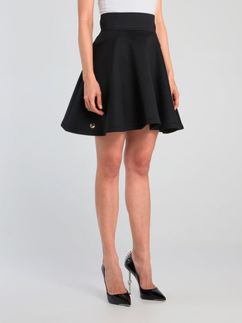 Black Mini Circle Skirt