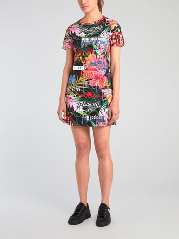 Jungle Rock Graphic T-Shirt Dress