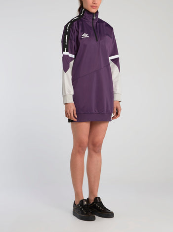 Lina Purple High Neck Active Dress
