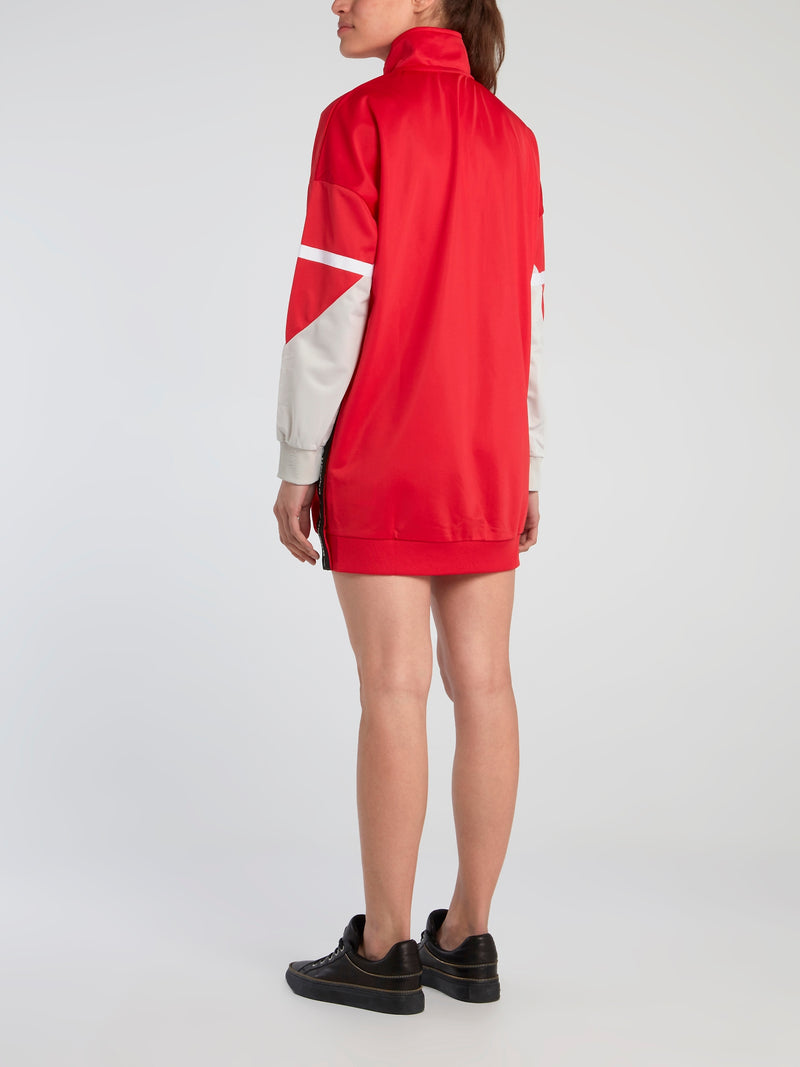 Lina Red High Neck Active Dress