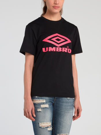 Black Logo Boyfriend T-Shirt