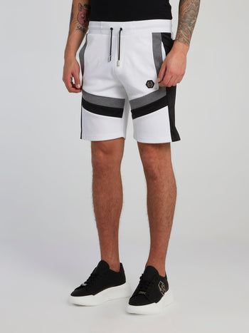 Colour Block Drawstring Training Shorts