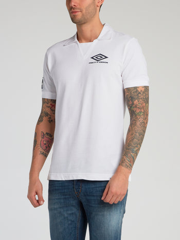 Pretty Green x Umbro White Polo Shirt