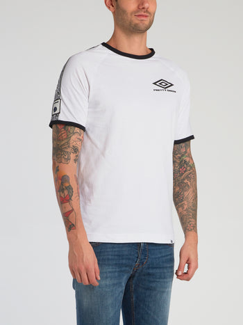 Pretty Green x Umbro White Contrast Trim T-Shirt