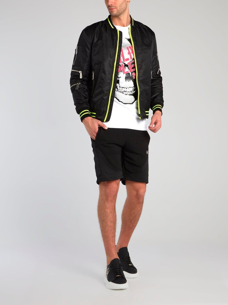 Plein Star Nylon Bomber Jacket