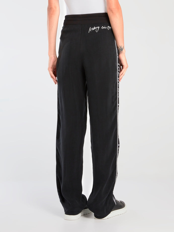 Black Logo Tape Active Pants