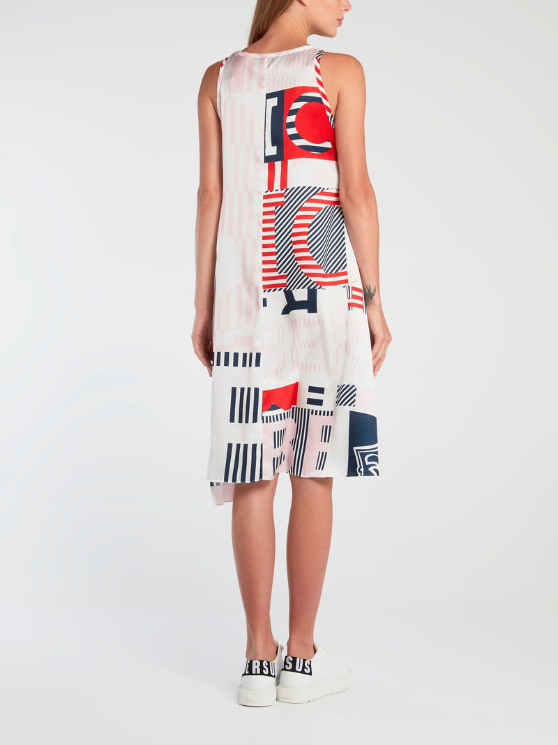 Logo Stripe Tank Dress