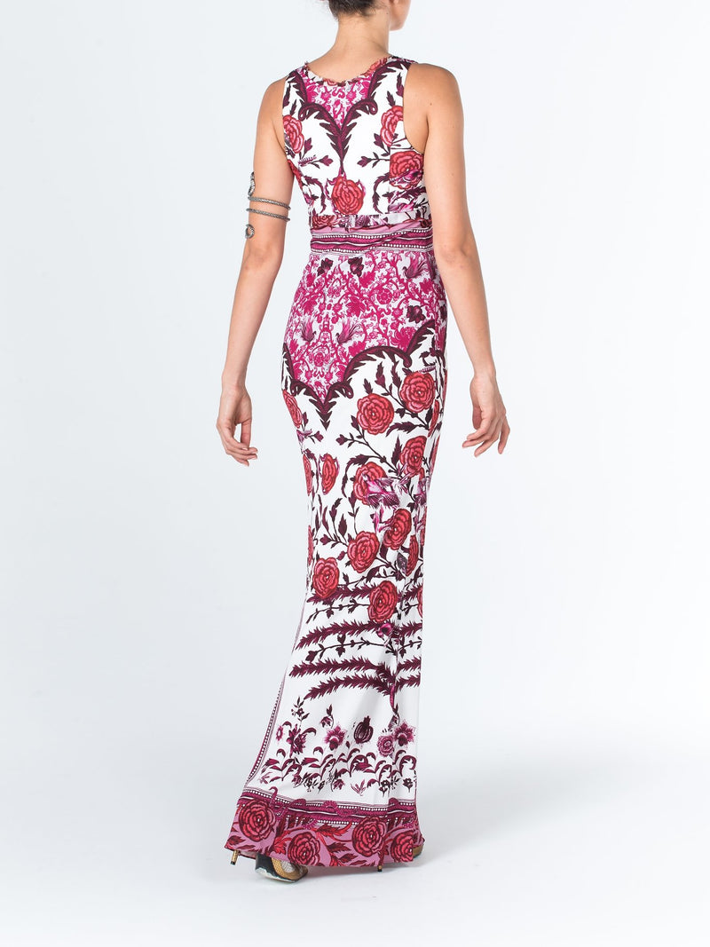 Floral Printed Empire Sheath Dress