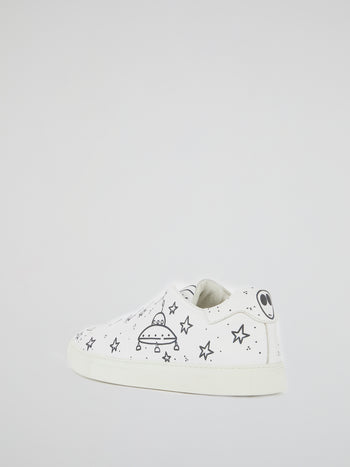 White Space Print Trainers