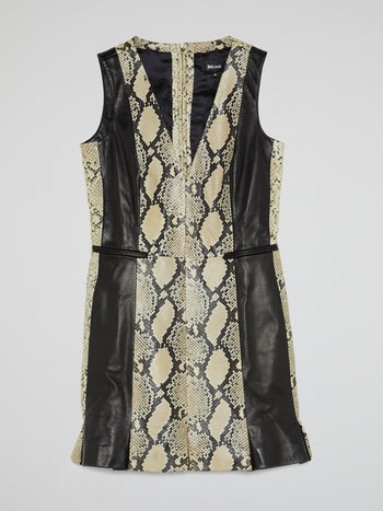 Python Print Leather Dress