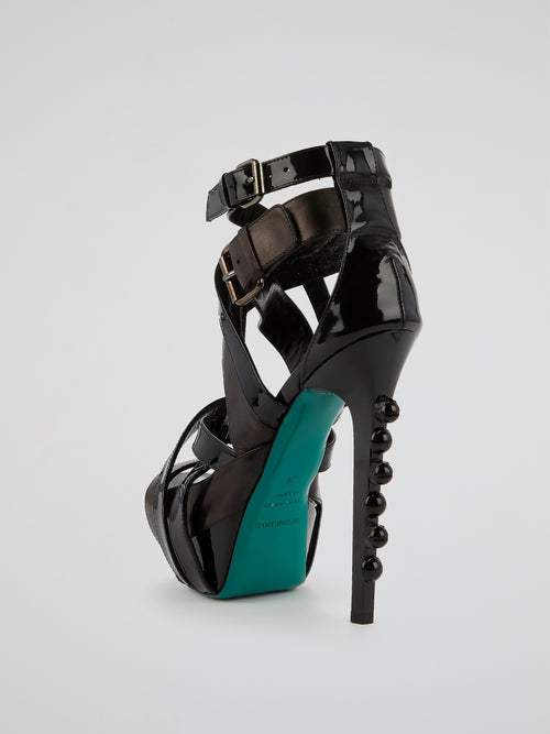 Horizon Black Cage Stilettos