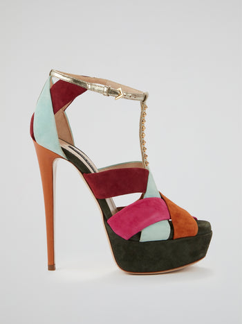 Summit Suede Colour Block Stilettos