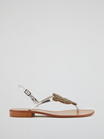 Cora Embellished Flat Sandals
