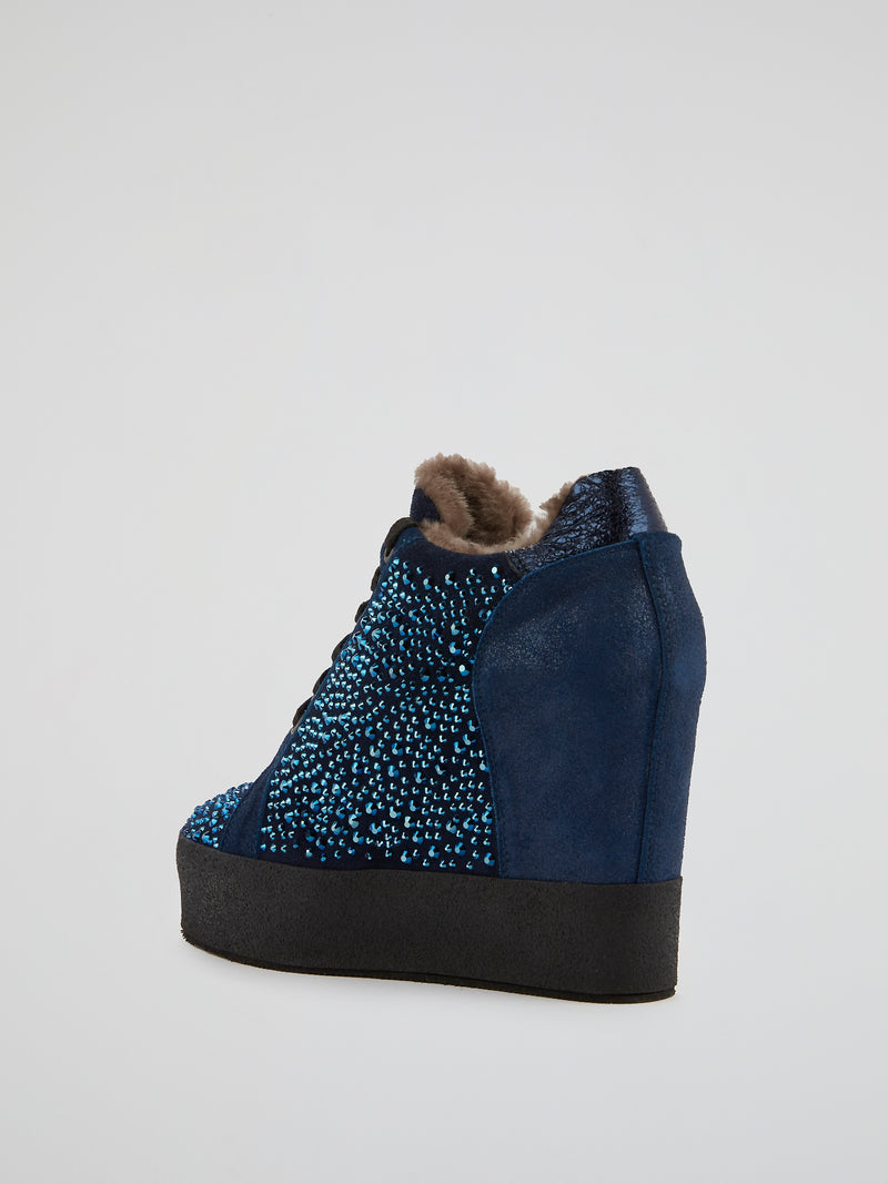 Navy Multi-Stud Hidden Heel Sneakers
