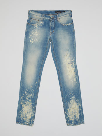 Acid Wash Distressed Jeans