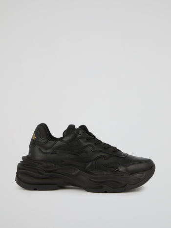 Eyza P Black Chunky Sole Sneakers