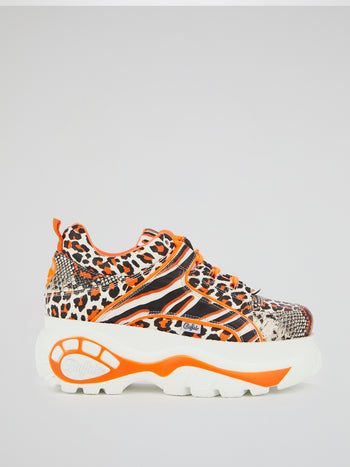 Animal Print Chunky Sole Sneakers