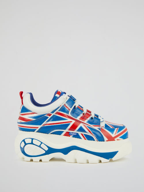 UK Flag Chunky Sole Sneakers