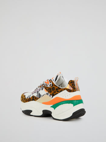 Crevis P1 Multi-Animal Print Sneakers