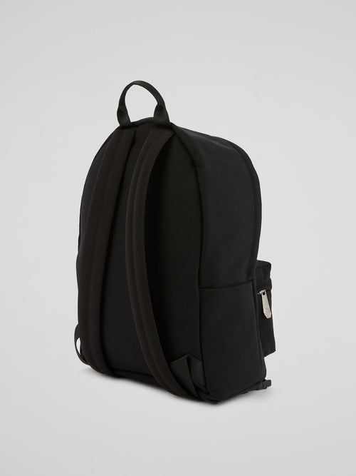 PP1978 Black Graphic Print Backpack