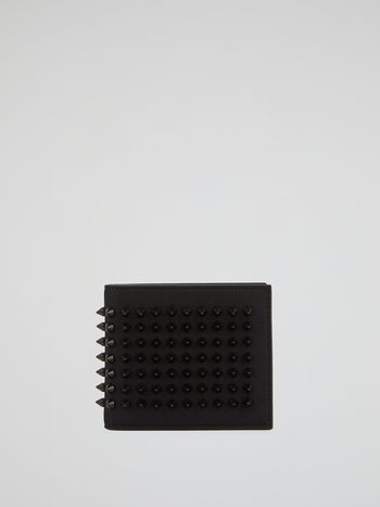 Black Spike Studded Wallet