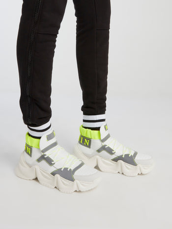 Runner Monster White Chunky Sole Sneakers