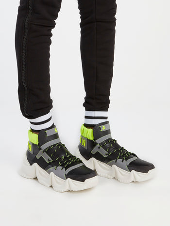 Runner Monster Black Chunky Sole Sneakers