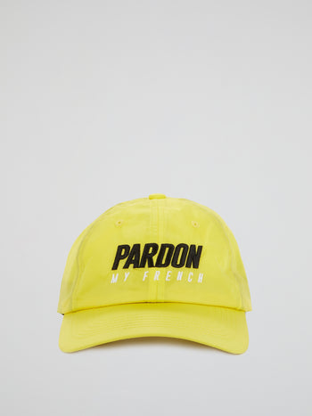 Yellow Embroidered Logo Cap